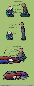 mental health caring comic